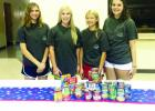 The Cotton Blossoms had a canned food drive to benefit Council on Aging June 28. This community service project is one of many the girls will be participating in for this year. Among those taking part were Jenna Brakefield, Madison Parker, Ellie Jo Barker and Christianna Papadopolous.