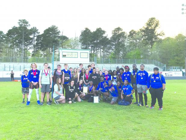 The Delhi Charter School boys and girls varsity track teams