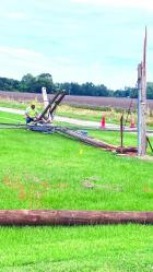 Downed pole